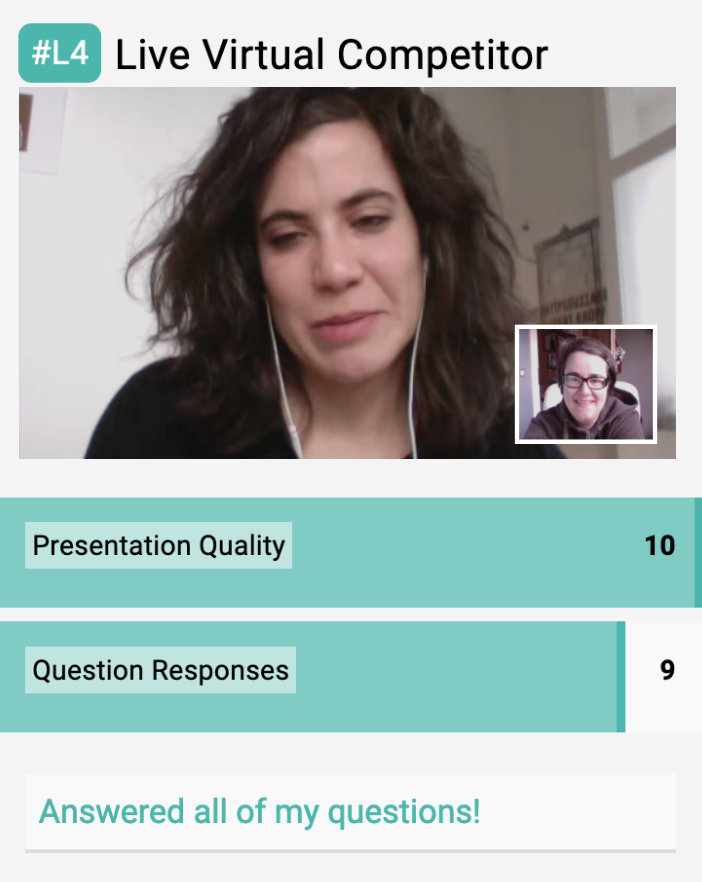 Live virtual video interview example